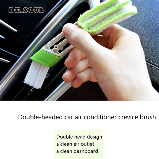 QIAOGUANJIA Auto Accessories Car Detailing Car Air Conditioning Air Outlet Cleaning Brush...