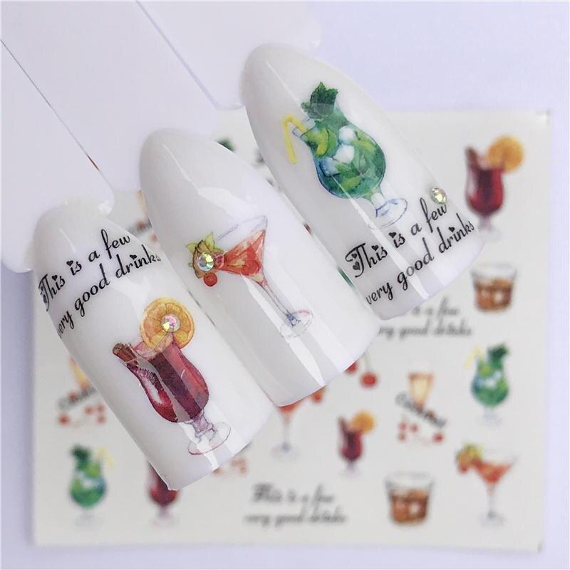 YZWLE стикер для ногтей художественное украшение слайдер лиса волк животное клейкая дизайнерская водная наклейка маникюрный лак аксессуары лак фольга - Цвет: YZW-A1416