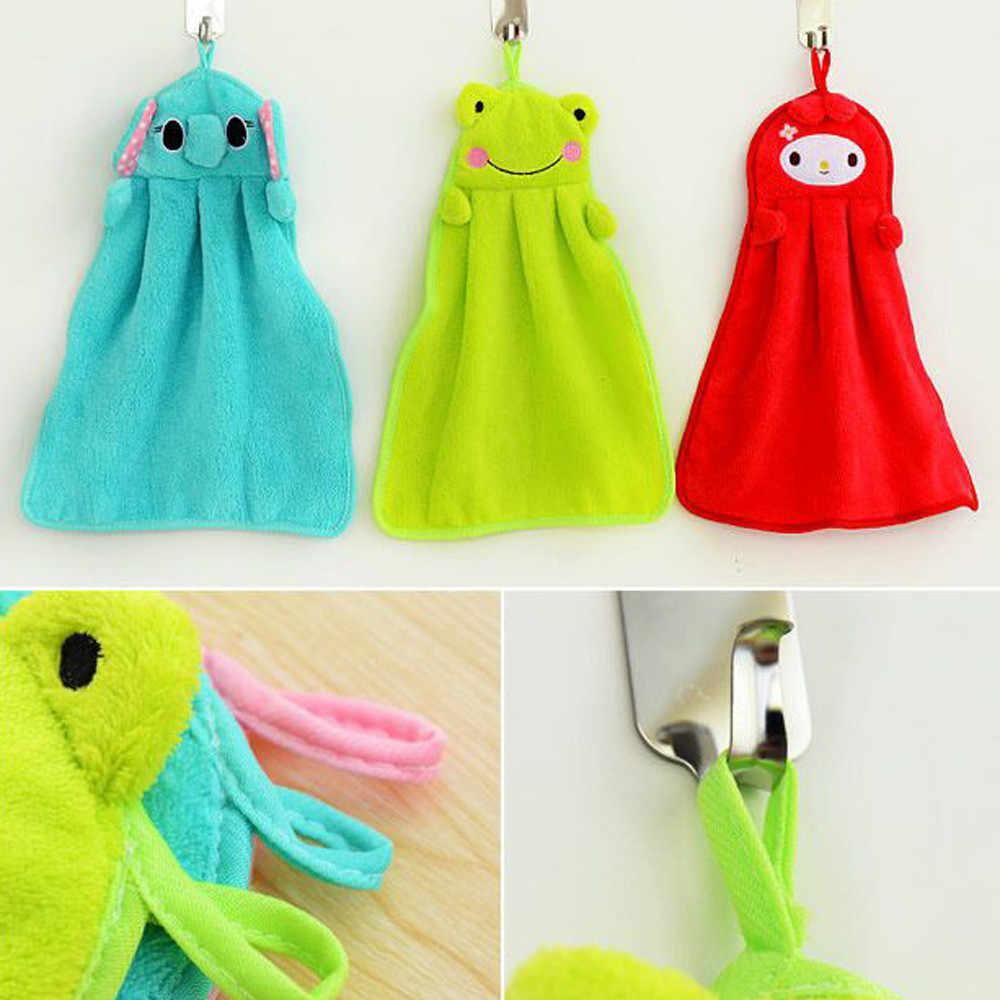 Dla dzieci dla dzieci przedszkole ręcznik Cartoon zwierząt kuchnia wanna wiszące wytrzeć miękki ręcznik 27.5*37.5*0.5cm kuchnia wanna wiszące wytrzeć miękkie