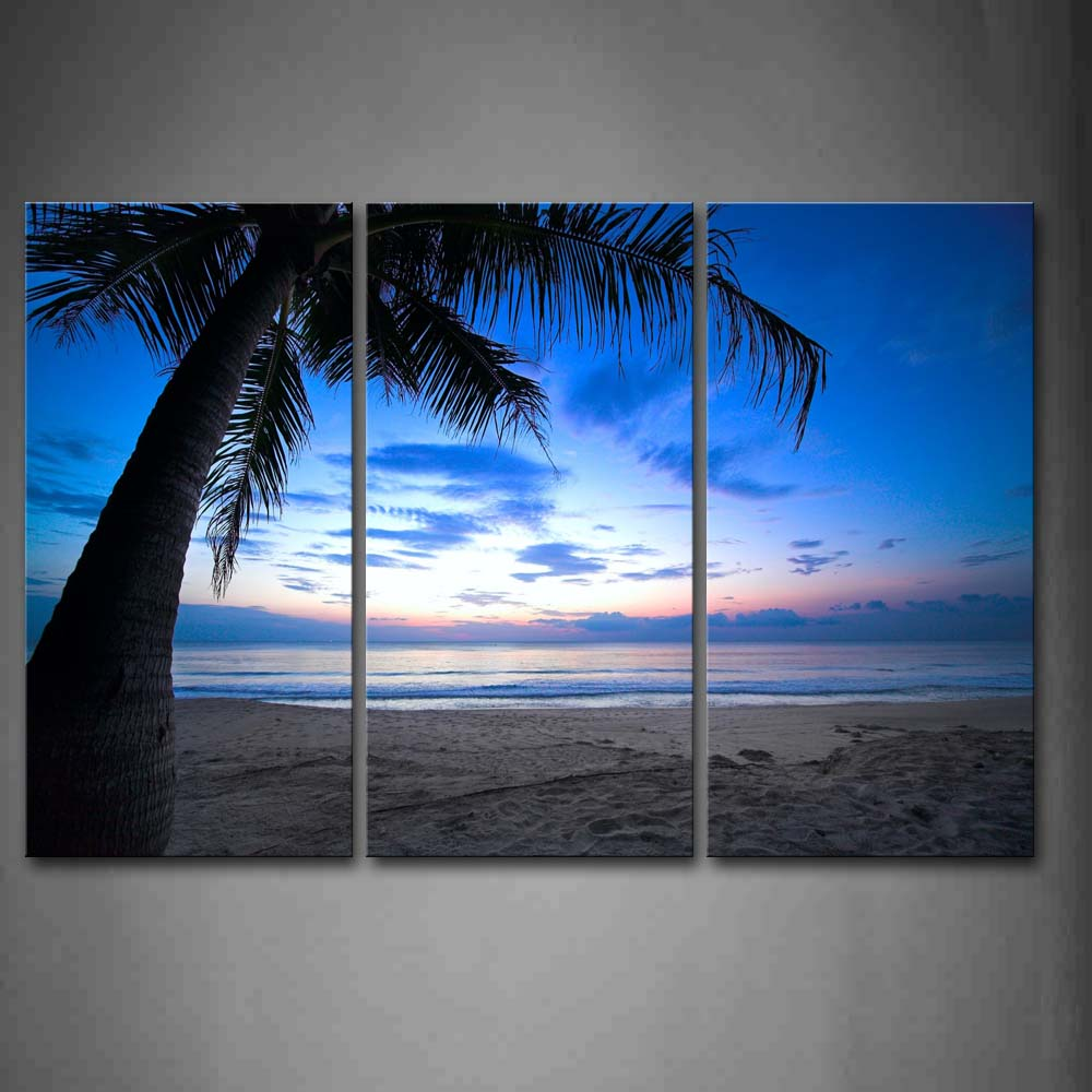 Framed Wall Art Pictures Beach Palm Canvas Print Seascape Poster With Wooden Frame For Home Living Room And Office DecorFramed Wall Art Pictures Beach Palm Canvas Print Seascape Poster With Wooden Frame For Home Living Room And Office Decor