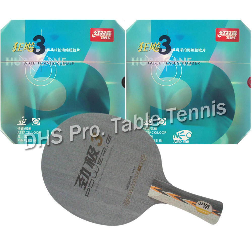 DHS Pro Combo Racket POWER G3 PG3 PG.3 PG 3 long shankhand-FL + 2x NEO Hurricane3 long shankhand FL pro table tennis pingpong combo paddle racket dhs power g3 pg3 pg 3 pg 3 2 pcs neo hurricane3 shakehand long handle fl