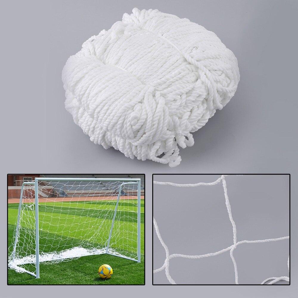 Calcio di Calcio Goal Post Net Partita di Sport di Formazione di Ricambio In Polipropilene Bianco Mescolato Cotone Junior Sport di Formazione