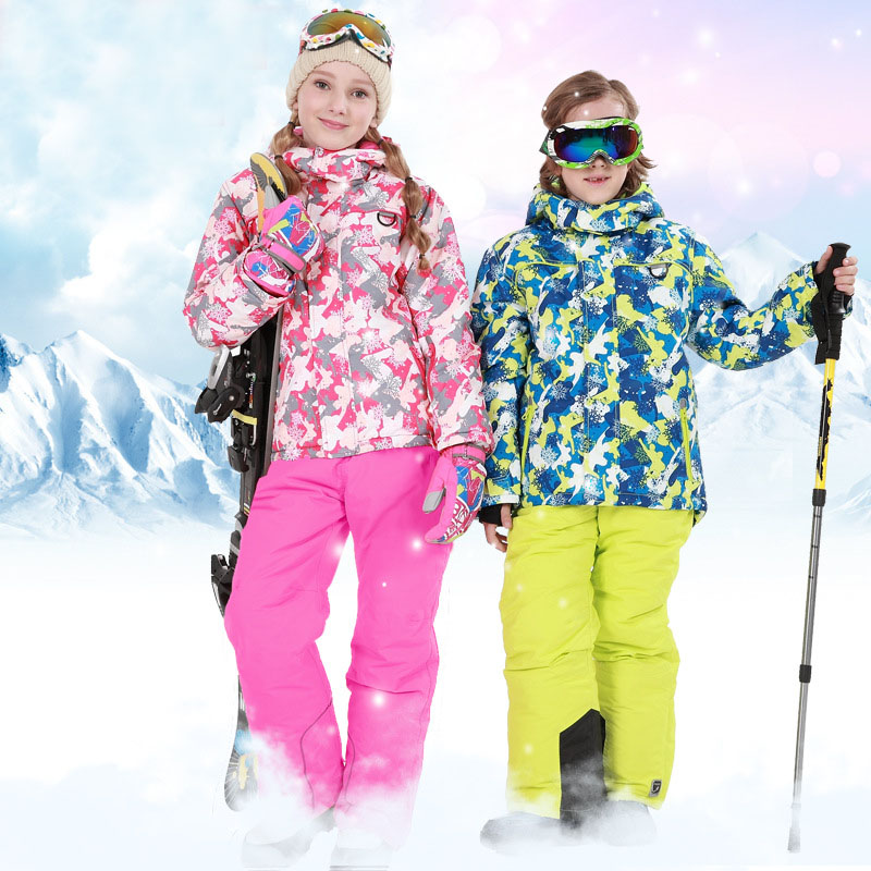 New Children's Snow Ski Suits Kids Winter Warm Sport Coat Sets  Baby Boys Girls Outdoor Wear Hooded Jackets+Bandage Pants  30# клавиатура проводная defender reddragon asura