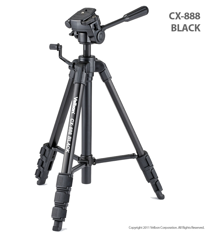 Velbon CX-888 noir Caméra photo Trépied w/Panhead & QB-4W & Case 1450mm Charge: 2 kg