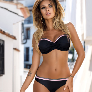 b173d3b46be2 SUNRAINBOW 2019 Bikinis mujeres Padde tangas Sexy traje de baño Vintage  traje de baño Bikini ...