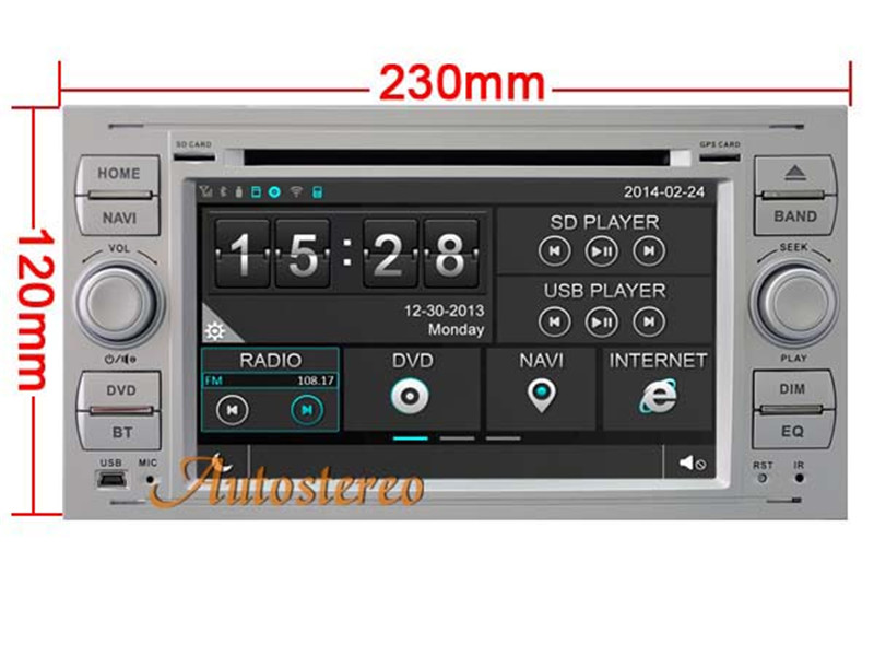 7 Inch Android 7.1 Car DVD Player GPS Dashboard Navigation 1080P HD for Ford MONDEO FOCUS 2008+ S MAX Fiesta