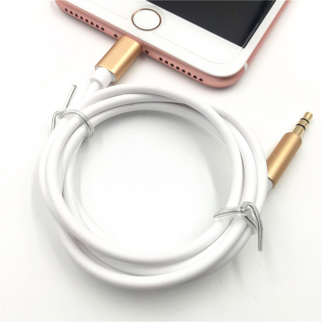 low priced bcbae 74655 US $4.99 |For Apple iphone 7 8pin to 3.5 mm male headphone jack adapter 1m  AUX Audio Cable For iphone 7 Car Earphone Cord Cable-in Mobile Phone Cables  ...