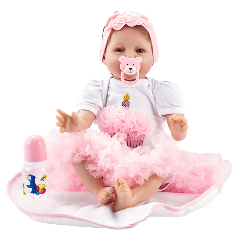22 full silicone vinyl body reborn dolls baby reborn girl soft body best children sleeping boy gift toys brinquedos bonecas New Silicone Vinyl Doll Reborn Babies 55CM Dolls for Girl Toys Soft Body Lifelike Newborn Baby Bonecas Best Gift For Kids Child