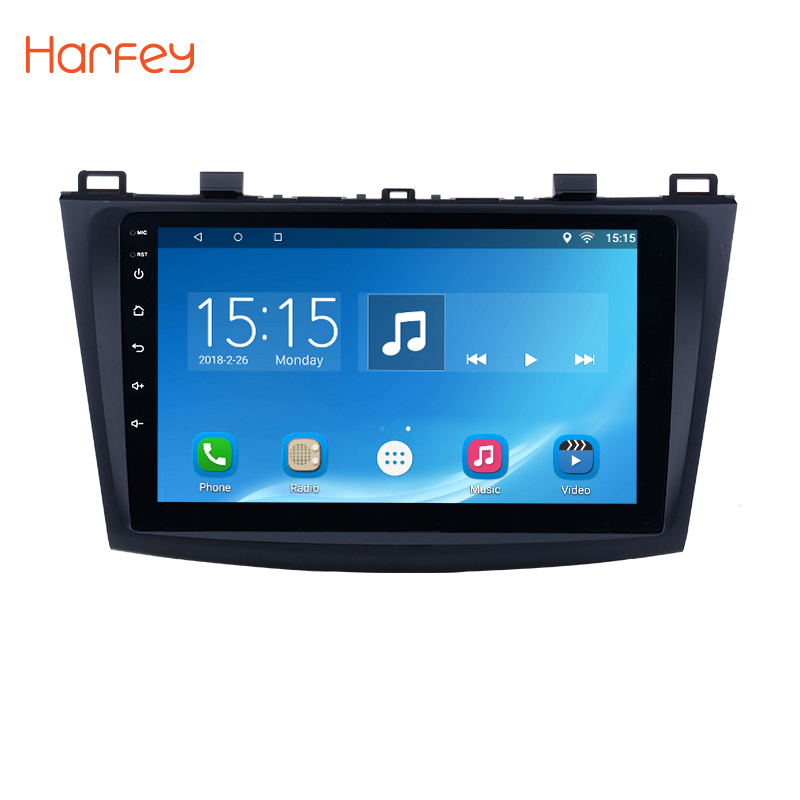 Harfey for 2009 2010 2011 2012 MAZDA 3 9 inch Touch Screen Quad core Android 6.0 Car GPS Multimedia Navi Stereo Player With WIFI