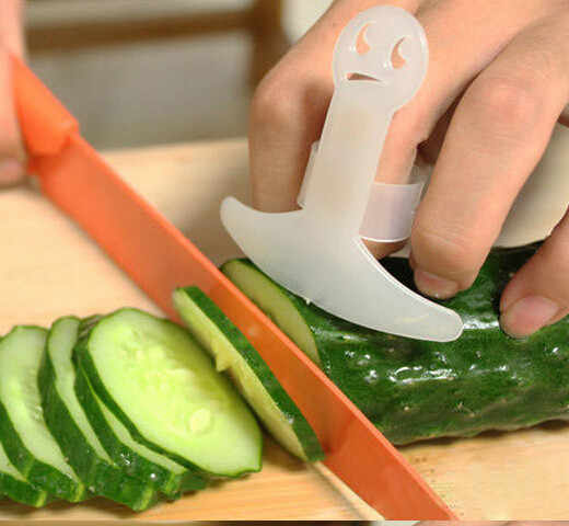 Protetor de dedo plástico guarda seguro fatia cozinhar ferramentas casa deve ter acessórios de cozinha de alta qualidade