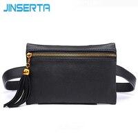 Jinserta بو الجلود حزام حقيبة الخصر حقيبة الهاتف العالمي الهاتف حقيبة الحقيبة لمدة 5.5 بوصة الهاتف الذكي الجديد أزياء النساء محفظة