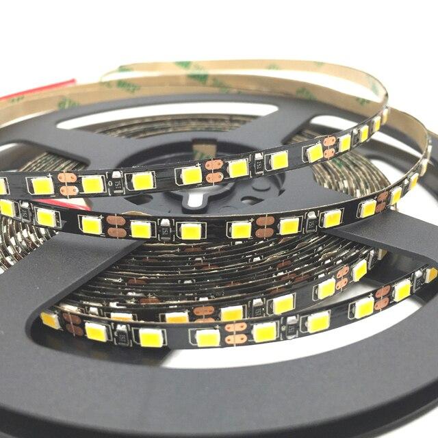 Black pcb 5mm width 2835 smd flexible led strip light 120ledm black pcb 5mm width 2835 smd flexible led strip light 120ledm dc12v white no sciox Images