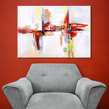 Wall Art Ręcznie malowane Modern Abstract Red Obraz olejny Wall Decorative Canvas Art Picture for living Home Decor Posters