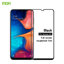 цена на For Samsung galaxy A20 Tempered Glass MOFI Full Screen Coverage Tempered Glass Screen Protector Flim For Samsung galaxy A20