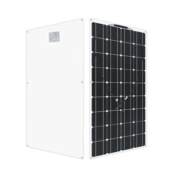 12 Volt 100 Watt monoctrystalline flexible solar panel solar RV 200w 400 watt 600w 1000w kit for 12V 24 Volt batteries Charging 1
