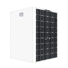 12 โวลต์ 100 วัตต์ monoctrystalline ยืดหยุ่นแผงพลังงานแสงอาทิตย์ RV 200 W 400 600 1000 ชุดสำหรับ V 24 โวลต์แบตเตอร...