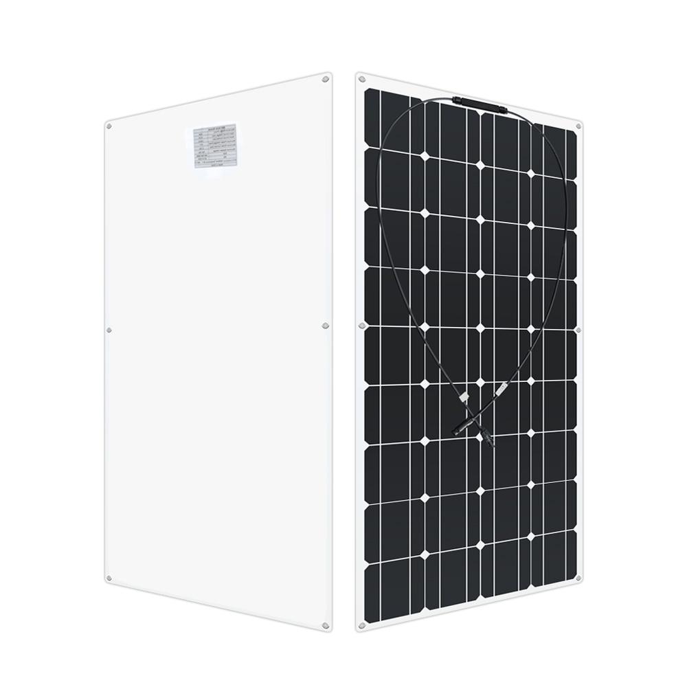 12 Volt 100 Watt monoctrystalline flexible solar panel solar RV 200w 400 watt 600w 1000w kit for 12V 24 Volt batteries Charging