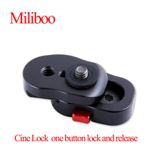 Cine Lock Mini Quick Release plate works with  magic arm Mount and Other Video Monitors 1/4 inch thread