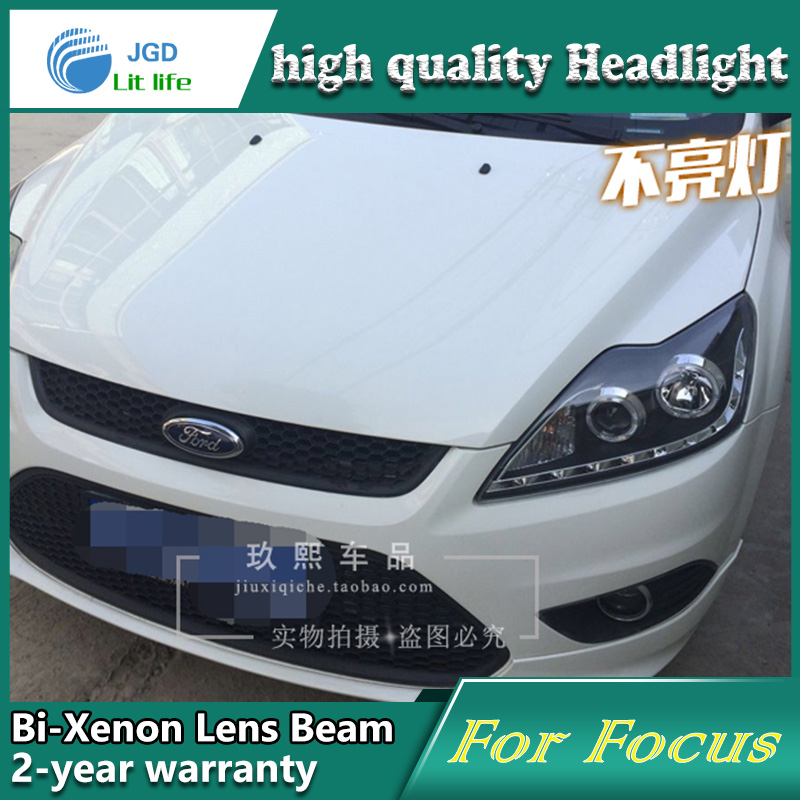 Car Styling Head Lamp case for Ford Focus 2009 Headlights LED Headlight DRL Lens Double Beam Bi-Xenon HID car Accessories car styling led head lamp for ford focus2 headlights 2009 2012 focus led headlight turn signal drl h7 hid bi xenon lens low beam