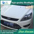 Estilo do carro Head Lamp capa para Ford Focus 2009 Faróis de LED Farol DRL Lente Feixe Duplo Bi-Xenon HID Acessórios do carro