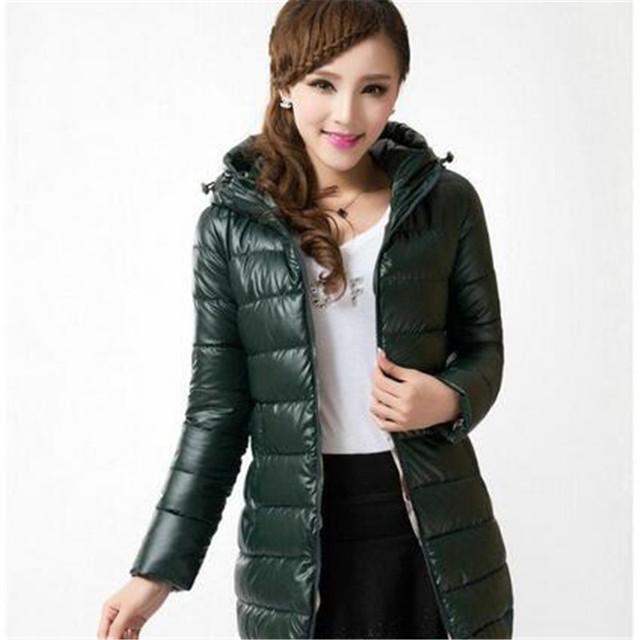 Mujeres abrigo de invierno 2016 estilo coreano nueva algodón caliente abajo chaqueta de ocio de gran tamaño chaqueta con capucha moda para mujer delgadas abrigo G2498