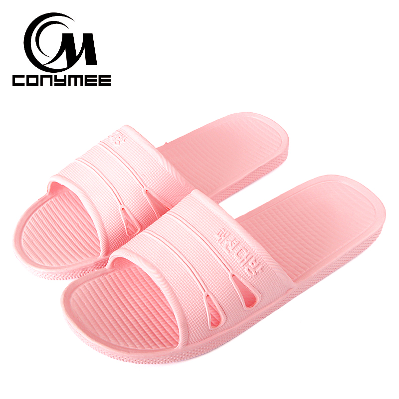 CONYMEE Summer Beach Sandals Flat Shoes Woman 2018 Candy Colors Women Men Indoor Home Slippers Flip Flops Bath Sandalias Mujer women slippers flower shoes woman flats sandals beach flat flip flops ladies sandalias zapatos mujer footwear size 35 39 pa00194