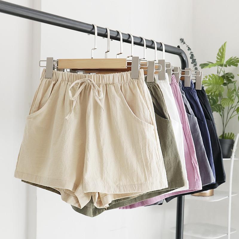 Summer Casual   Shorts   Beach Elastic With Belt High Waist   Shorts   Women   Shorts   Fashion Girls Solid Color Casual   Shorts