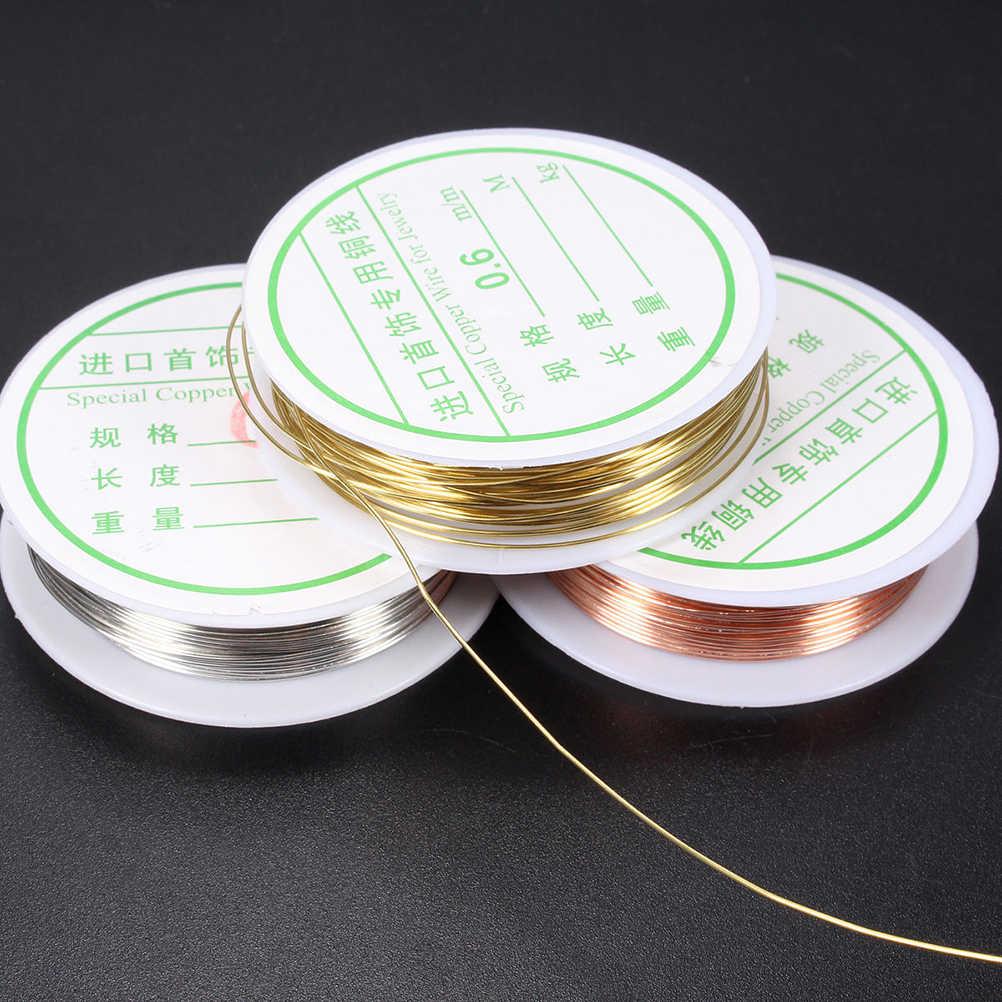 DIY Cordón de joyería esencial 0,3-0,8mm rojo oro plata color metal hilo cuerda Cordón de cuentas manualidades con abalorios alambre ajuste marca de joyería