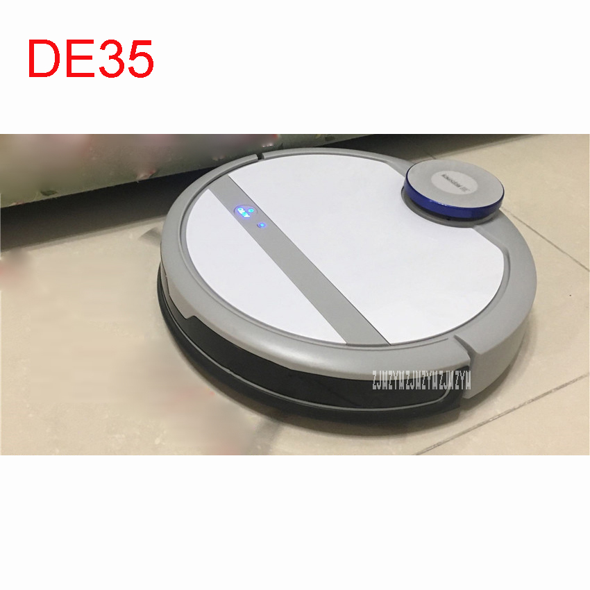 Mini Robot Vacuum Cleaner for Home Automatic Sweeping Dust Sterilize Smart Planned Mobile App 0.35L Dust box DE35 100-240V jiaweishi robot vacuum cleaner for home automatic sweeping dust sterilize smart