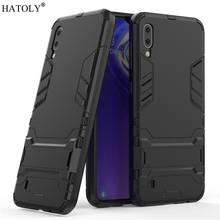 For Samsung Galaxy M10 Case Rubber Robot Armor Shell Hard PC Back Phone Cover for