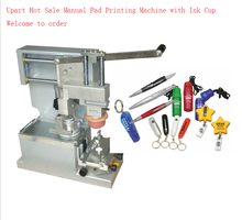 free shipping manual pad printer machine with seal ink cup ,tabletop pad printer machine