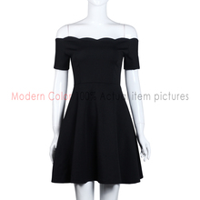 Off Shoulder Black Dress Women Summer 2016 New Fashion Short Sleeve Womens Sexy Dresses Party Night Club Dress Mini For Ladies