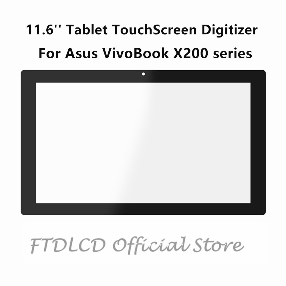 FTDLCD 11.6'' Repair Tablet Glass TouchScreen Digitizer For Asus VivoBook X200 X200E <font><b>X200CA</b></font> X200MA <font><b>X200CA</b></font>-DB01T CT158H image