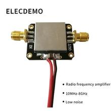 RF Amplifier Low Noise LNA Broadband 10M-8GHz Gain 12dB Flatness Good Function demo Board rf broadband lna 0 1 2000mhz amplifier 30db high frequency amplifier