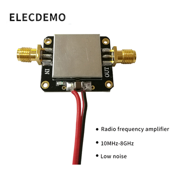 RF Amplifier Low Noise LNA Broadband 10M-8GHz Gain 12dB Gain Onboard Shield Cover sakshi rajput low threshold and better gain charge pump