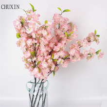 105cm New Japanese Sakura Artificial flowers Fack Cherry Blossoms Wishing Tree For Home Hotel Living room decoration flores