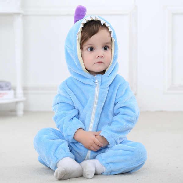 cffe1f664 ... Mamelucos de bebé nuevo bebé de invierno Ropa de dibujos animados de  pijamas de invierno cálido