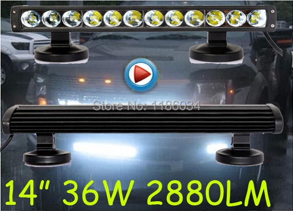 14inch 36W 2880LM 10~30V LED working bar,for Tank, Boat,Bridge,Truck,Offroad car,troops,1pcs/set+Free ship!black,excellent item бампер excellent car 13 14 rav4 4s