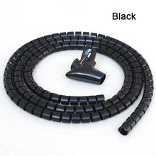 L1.5m D16/22/28mm Spiral Wire Organizer Wrap Tube Flexible Management Wire Storage for PC Computer Cord Protector Cable Winder