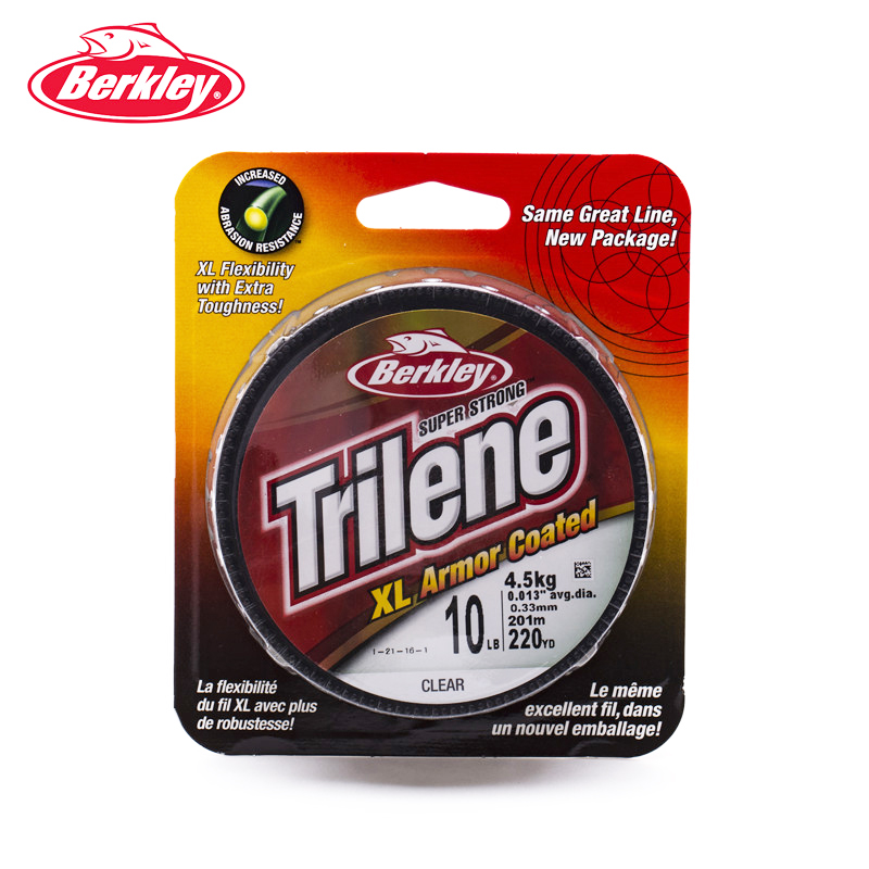 BERKLEY TRILENE XL Armor Coated 14 lb FISHING LINE 220 yds Green Super Strong