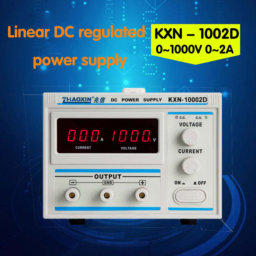1PC KXN-10002D high-power DC power 0-1000V 0-2A adjustable Digital Power Power Supply rps3020d 2 digital dc power adjustable power 30v 20a power supply linear power notebook maintenance