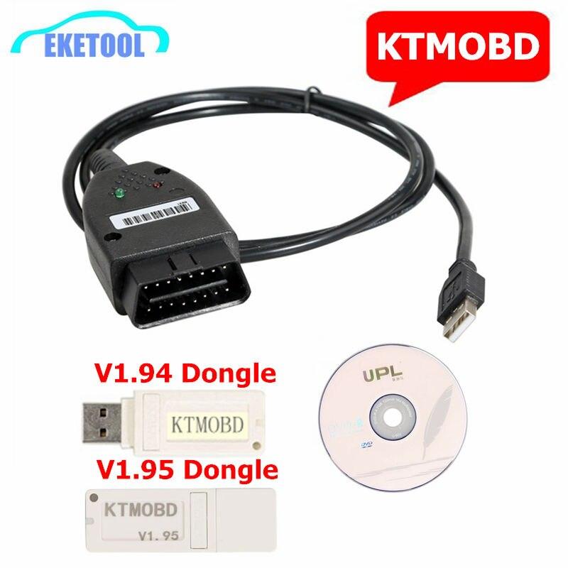 PCMFlash V1.195 V1.1.94 KTMOBD Atualização ECU Ferramenta DiaLink J2534 Transferência Estável Leitura Real KTM OBD Dongle USB Carros Japoneses