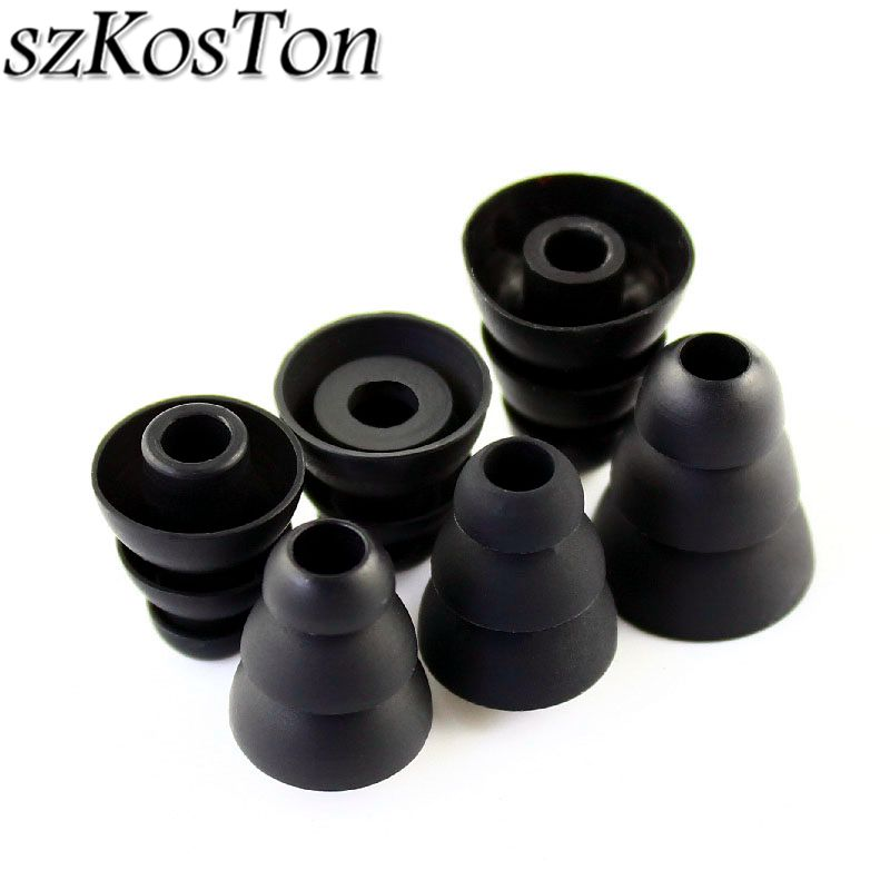3 Pairs/6 Pairs Soft Silicone Ear Tips Buds In Ear Earphone Pad Covers Replacement Three Layer Eartips Earbuds Earphone Cap auricular para solo un oido png