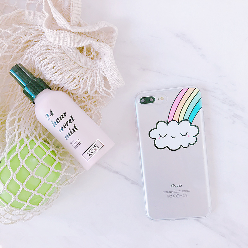 Smiling Rainbow Cloud Phone Case