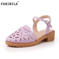 Women News Oxfords Flats Sandals Ankle Strap Shoes Cutout Brand Ladies Quality Fashion British Style Shoes