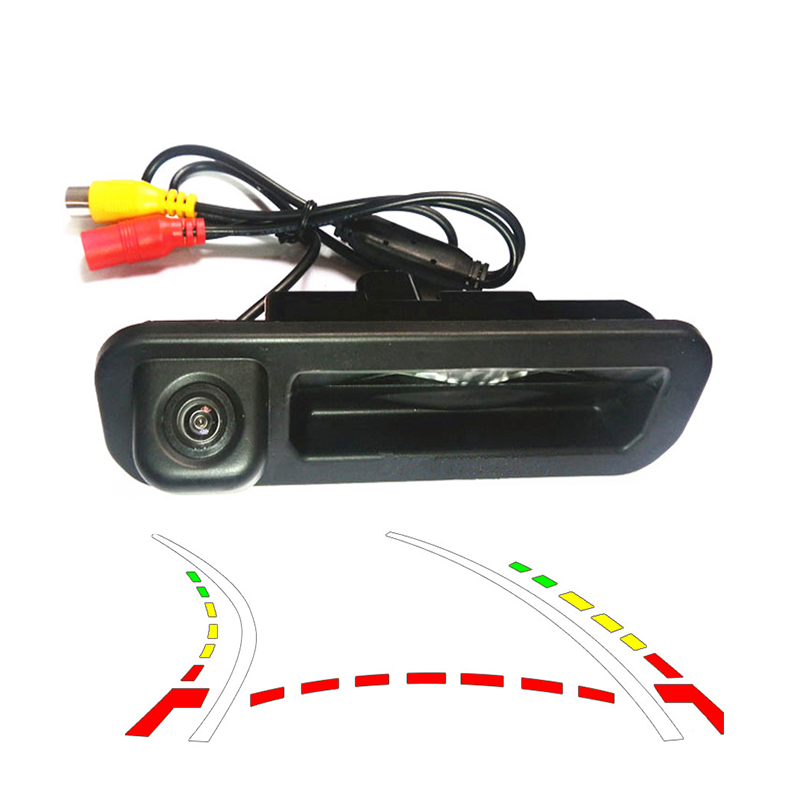 HD CCD Dynamic Trajectory Tracking camera for Ford Focus 2 Focus 3 2012 Car parking rearview reverse backup Camera Trunk handle trunk handle reverse backup camera hd ccd - title=