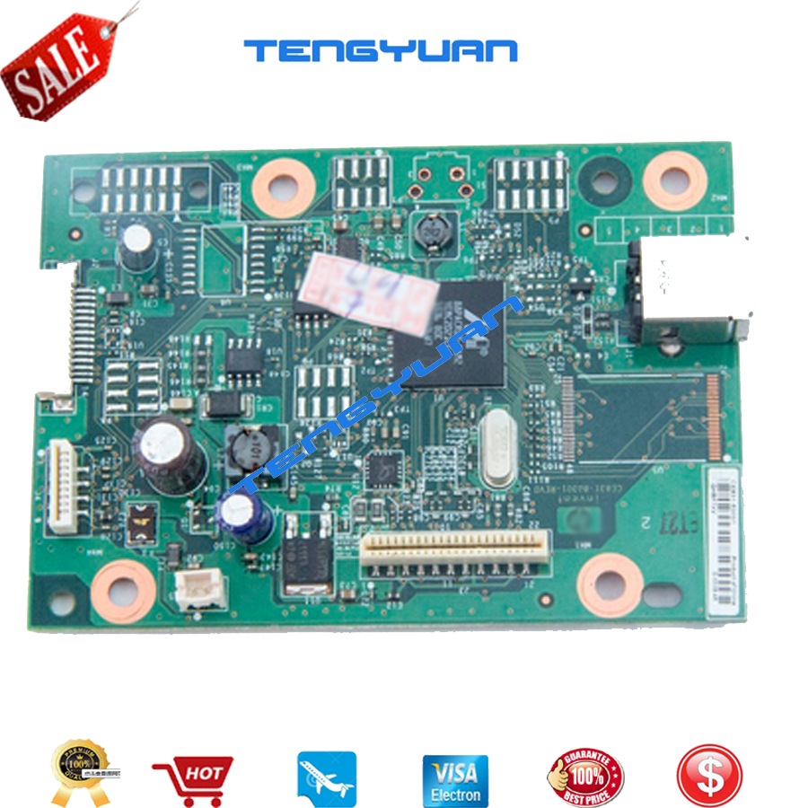 Original 95% new CE831-60001 LaserJet Pro M1130 M1132 M1136 Formatter Board PCA Assy logic Main Board mother board printer parts free shipping ce831 60001 laserjet pro m1132 1215 1212formatter board 125a pressure roller printer parts on sale