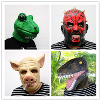 Creepy Frog/Pig Head Mask Rubber Animal Dinosaur Mask latex party Movie Star War Mask kids Party Halloween Masquerade Mask funny