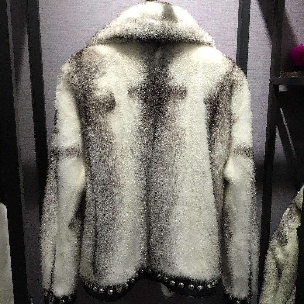 Sqxr Pour Réel camel Manteau Mode De Fourrure ivoire gris Hiver Femme Femmes Luxe Multi Vison rose zprqzw