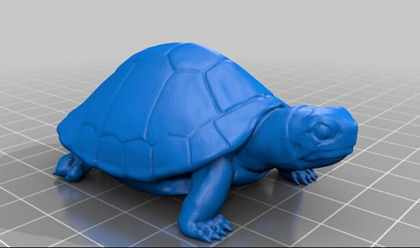 3D Printers 3D Model For Cnc In STL File Format Animal Turtle